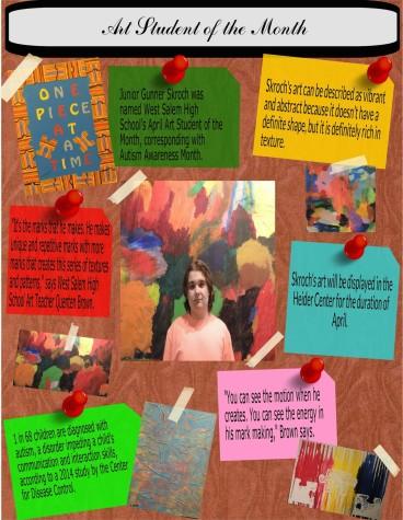 Gunner Skroch: April's Art Student of the Month